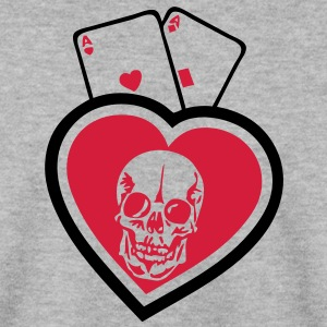 coeur paire as tete mort skull1 poker Sweat-shirts - Sweat-shirt Homme