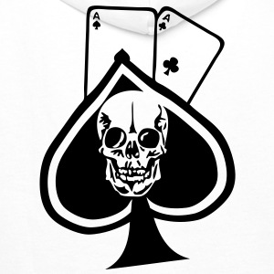 pique paire as tete mort skull1 poker Sweat-shirts - Sweat-shirt à capuche Premium pour hommes