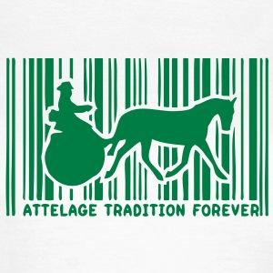 code barre attelage tradition cheval co9 Tee shirts - T-shirt Femme