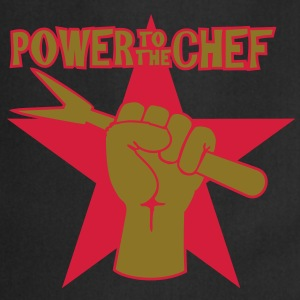 power to the chef (b, 2c)  Aprons - Cooking Apron
