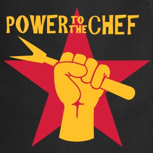 power to the chef ( 2c)  Aprons - Cooking Apron