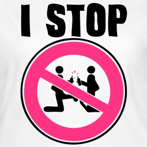 i stop sexual act2 panneau interdiction Tee shirts - T-shirt Femme
