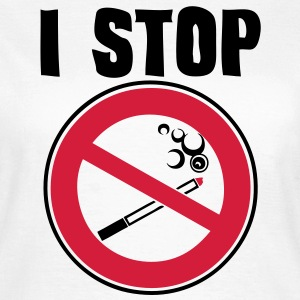 i stop smoking panneau interdiction Tee shirts - T-shirt Femme