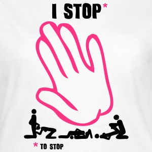 i stop sexe kiss love hand sexual act1 Tee shirts - T-shirt Femme