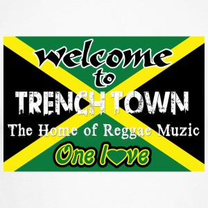 welcome to trench town the home of reggae muzic Shirts med lange ærmer - Langærmet herre-baseballshirt