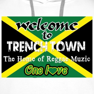welcome to trench town the home of reggae muzic Felpe - Felpa con cappuccio premium da uomo
