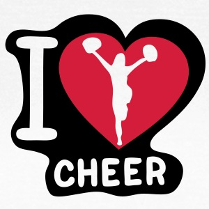 i love cheerleading pompom girl heart15 Tee shirts - T-shirt Femme