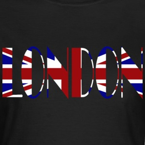 London union Jack black ladies t-shirt - Women's T-Shirt