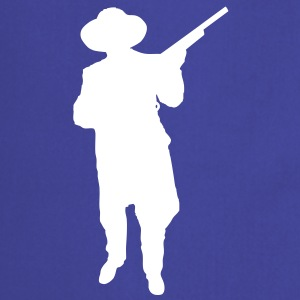 Man and Gun 2 (Vector) - Kochschürze