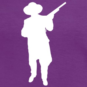 Man and Gun 2 (Vector) - Frauen Kontrast-T-Shirt