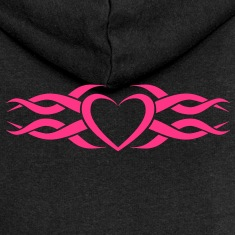 Womens Tribal Heart tattoo Heart Hoodie