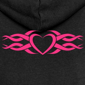 Womens Tribal Heart tattoo Heart Hoodie - Women's Premium Hooded Jacket