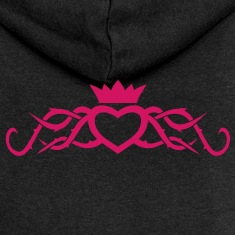 Heart with Thorns tribal tattoo womens Hoodie