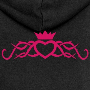 Heart with Thorns tribal tattoo womens Hoodie - Women's Premium Hooded Jacket