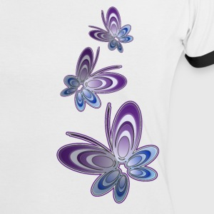 'Butterfly' Women's Contrast T-Shirt - Women's Ringer T-Shirt