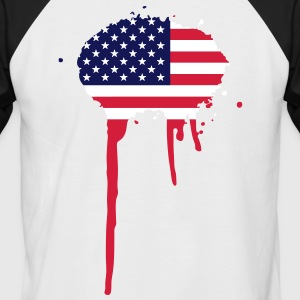 United Splash of America - Fahne T-Shirts - Männer Baseball-T-Shirt