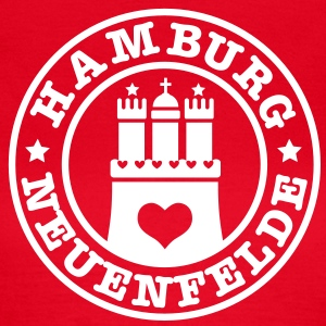 HAMBURG Neuenfelde - Hamburger Wappen Fan-Design HH Frauen Shirt rot - Frauen T-Shirt