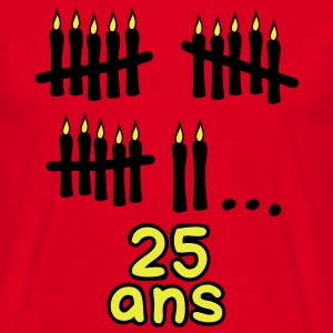 25 ans bougies printemps Tee shirts - T-shirt Homme