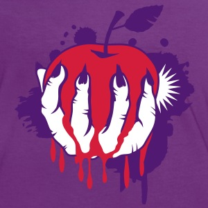 Witch's Claw with an apple as a graffiti T-Shirts - Women's Ringer T-Shirt