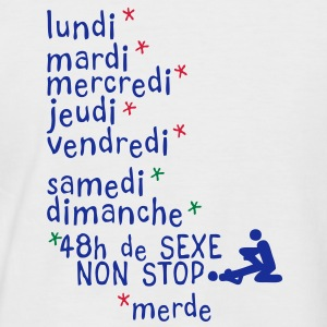 jours semaine amour sexe non stop1 Tee shirts - T-shirt baseball manches courtes Homme