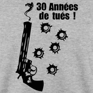 30 ans pistolet fumer impact balle anniv Sweat-shirts - Sweat-shirt Homme