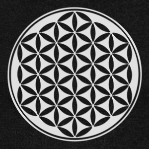 Flower of life - silver - sacred geometry - power  - Women's Boat Neck Long Sleeve Top