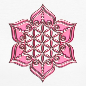 Flower of life, Lotus - Flower, pink, Symbol of perfection and balance T-Shirts - Women's Organic T-shirt