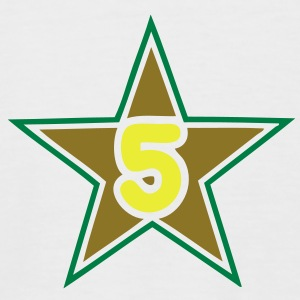 5 five numero number star etoile Tee shirts - T-shirt baseball manches courtes Homme