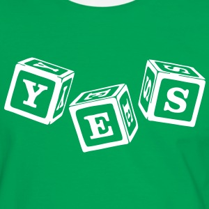 YES! T-Shirts - Männer Kontrast-T-Shirt