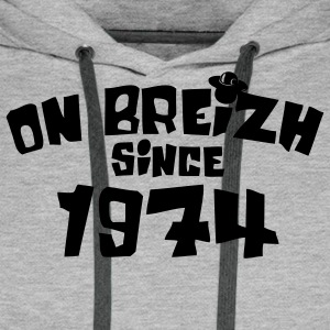 on breizh since 1974 Sweat-shirts - Sweat-shirt à capuche Premium pour hommes