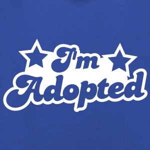 I'm adopted! super cute font with stars  Hoodies - Kids' Premium Hoodie