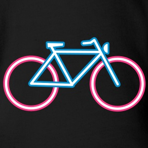 A bicycle made ​​of neon tubes Baby Bodysuits - Organic Short-sleeved Baby Bodysuit