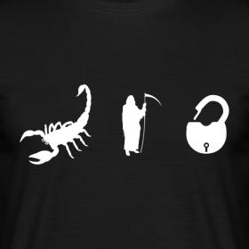 Design ~ Scorpion. Death. Lock. T-Shirt