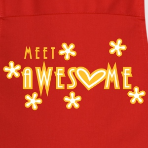 meet awesome (2c)  Aprons - Cooking Apron