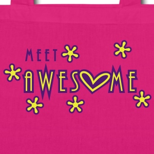 meet awesome (2c) Bags  - EarthPositive Tote Bag