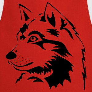 wolf wolves wild rudel pack howling dog husky sledge  Aprons - Cooking Apron