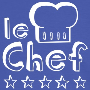 Le Chef father, husband or man master of barbecue, grill and cooking T-shirts - Kontrast-T-shirt herr