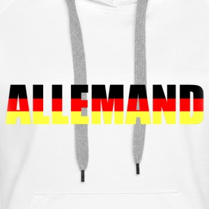 allemand Sweat-shirts - Sweat-shirt à capuche Premium pour femmes