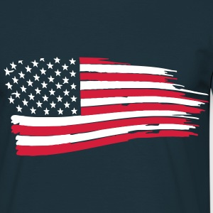 usa_flag_on_blue T-Shirts - Men's T-Shirt