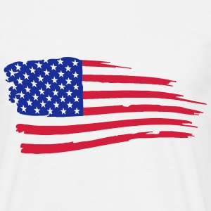 usa_flag_on_white T-Shirts - Men's T-Shirt