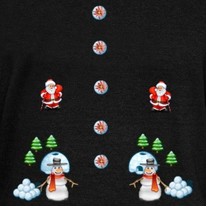 christmas snowmans Scene Father Christmas - Women's Boat Neck Long Sleeve Top