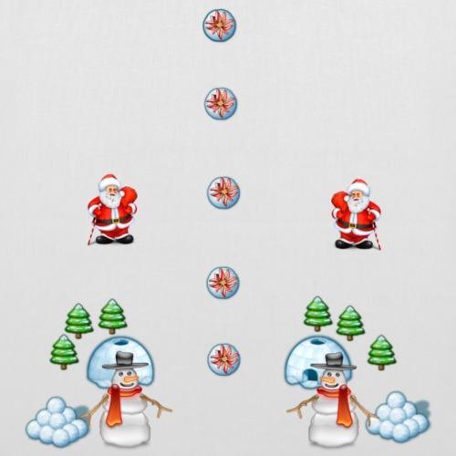 christmas snowmans Scene Father Christmas