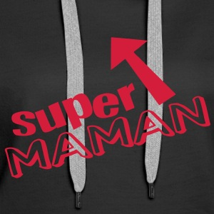 Super Maman (1c) Sweat-shirts - Sweat-shirt à capuche Premium pour femmes