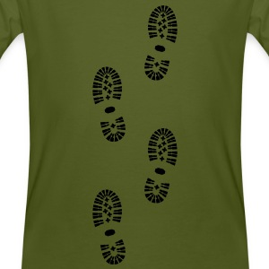 Shoes, Shoe Print, Hiking - Men's Organic T-shirt