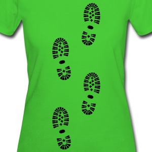 Shoes, Shoe Prints, Hiking, Organic - Women's Organic T-shirt