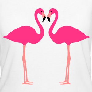 Fflamingo, flamingo's, watervogel - Vrouwen Bio-T-shirt