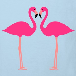 fenicottero, Flamingoes and Heart - Maglietta ecologica per bambini