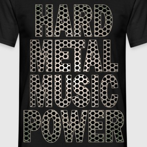 hard metal music power Tee shirts - T-shirt Homme