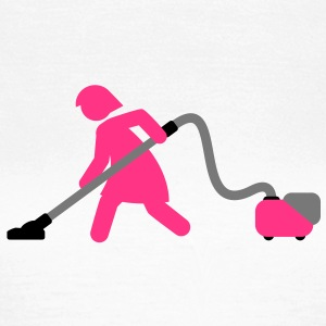 vacuuming_girl T-Shirts - Frauen T-Shirt