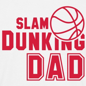SLAM DUNKING DAD Basketball T-Shirt RW - Men's T-Shirt